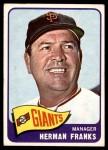 1965 Topps #32  Herman Franks  Front Thumbnail
