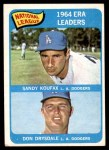 1965 Topps #8   -  Sandy Koufax / Don Drysdale NL ERA Leaders Front Thumbnail