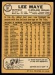 1968 Topps #94  Lee Maye  Back Thumbnail