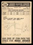 1959 Topps #105  John Crow  Back Thumbnail
