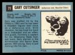 1964 Topps #71  Gary Cutsinger  Back Thumbnail