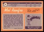 1970 Topps #45  Mel Renfro  Back Thumbnail