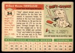 1955 Topps #34  Wayne Terwilliger  Back Thumbnail