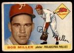 1955 Topps #157  Bob Miller  Front Thumbnail
