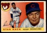 1955 Topps #6  Stan Hack  Front Thumbnail