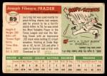 1955 Topps #89  Joe Frazier  Back Thumbnail