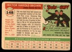 1955 Topps #148  Hal Brown  Back Thumbnail