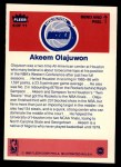 1986 Fleer Sticker #9  Hakeem Olajuwon  Back Thumbnail