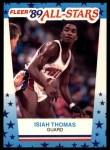 1989 Fleer Sticker #6  Isiah Thomas  Front Thumbnail