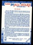 1989 Fleer Sticker #1  Karl Malone  Back Thumbnail
