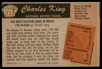 1955 Bowman #133  Charles King  Back Thumbnail