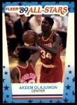 1989 Fleer Sticker #2  Hakeem Olajuwon  Front Thumbnail