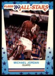1989 Fleer Sticker #3  Michael Jordan  Front Thumbnail