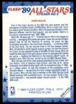 1989 Fleer Sticker #9  Chris Mullin  Back Thumbnail