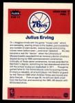 1986 Fleer Sticker #5  Julius Erving  Back Thumbnail