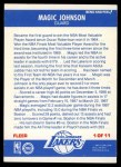 1987 Fleer Sticker #1  Magic Johnson  Back Thumbnail