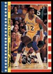 1987 Fleer Sticker #1  Magic Johnson  Front Thumbnail