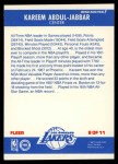 1987 Fleer Sticker #8  Kareem Abdul-Jabbar  Back Thumbnail