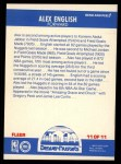 1987 Fleer Sticker #11  Alex English  Back Thumbnail