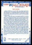 1989 Fleer Sticker #5  Magic Johnson  Back Thumbnail