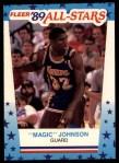 1989 Fleer Sticker #5  Magic Johnson  Front Thumbnail