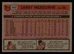 1981 Topps Traded #802 T Larry Milbourne  Back Thumbnail