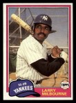 1981 Topps Traded #802 T Larry Milbourne  Front Thumbnail