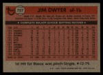 1981 Topps Traded #757 T Jim Dwyer  Back Thumbnail