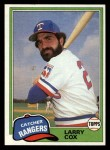 1981 Topps Traded #749 T Larry Cox  Front Thumbnail