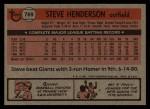 1981 Topps Traded #769 T Steve Henderson  Back Thumbnail