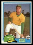 1981 Topps Traded #754 T Brian Doyle  Front Thumbnail