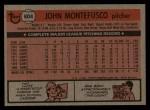 1981 Topps Traded #804 T John Montefusco  Back Thumbnail