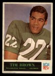1965 Philadelphia #130  Tim Brown  Front Thumbnail