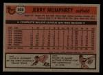 1981 Topps Traded #808 T Jerry Mumphrey  Back Thumbnail