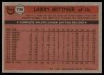 1981 Topps Traded #736 T Larry Bittner  Back Thumbnail