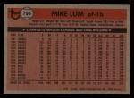 1981 Topps Traded #795 T Mike Lum  Back Thumbnail