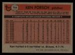 1981 Topps Traded #764 T Ken Forsch  Back Thumbnail
