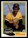 1981 Topps Traded #729 T Gary Alexander  Front Thumbnail