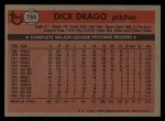 1981 Topps Traded #755 T Dick Drago  Back Thumbnail