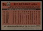 1981 Topps Traded #745 T Jeff Burroughs  Back Thumbnail
