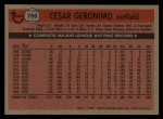 1981 Topps Traded #766 T Cesar Geronimo  Back Thumbnail