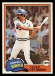 1981 Topps Traded #766 T Cesar Geronimo  Front Thumbnail