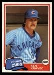 1981 Topps Traded #783 T Ken Kravec  Front Thumbnail