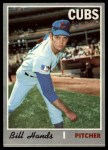 1970 Topps #405  Bill Hands  Front Thumbnail