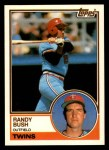 1983 Topps Traded #17 T Randy Bush  Front Thumbnail