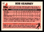1983 Topps Traded #52 T Bob Kearney  Back Thumbnail