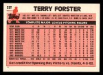 1983 Topps Traded #33 T Terry Forster  Back Thumbnail