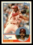 1983 Topps Traded #46 T Al Holland  Front Thumbnail
