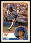1983 Topps Traded #105 T Doug Sisk  Front Thumbnail