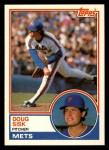 1983 Topps Traded #105 T Doug Sisk  Front Thumbnail